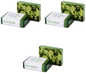 Nirvaana Handmade Natural Aloe Neem Soap, 100g (Pack of 3)