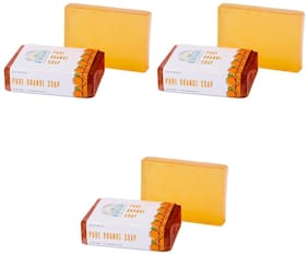 Nirvaana Handmade Natural Orange Soap, 100g (Pack of 3)
