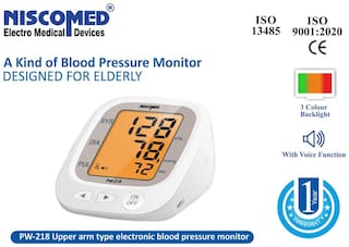 NISCOMED PW-218 Fully Automatic Digital Blood Pressure Monitor Fully Automatic Digital Blood pressure Monitor Bp Monitor