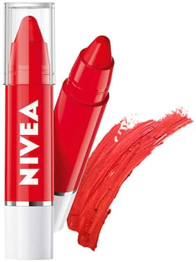 Nivea Coloron Lip Crayon Pop Red 3 g (Pack of 2)