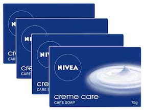 Nivea Creme Care Soap - For Normal To Dry Skin 75 gm Pack Of 4 Buy 3 Get 1 Free