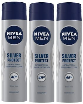 Nivea Deo Silver Protect Dynamic Power, 150ml (Pack of 3)