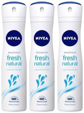 Nivea For Women Fresh Natural Deodorant, 150ml (Pack of 3)