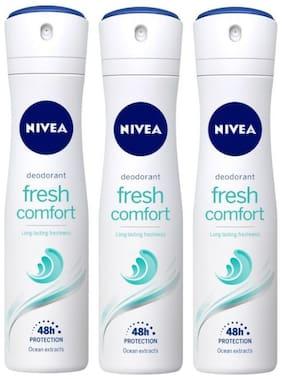 Nivea Fresh Comfort Deodorant, 150ml (Pack of 3)