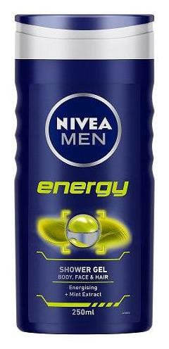 Nivea Shower Gel - Energy for Men (Body  Face & Hair) 250 ml