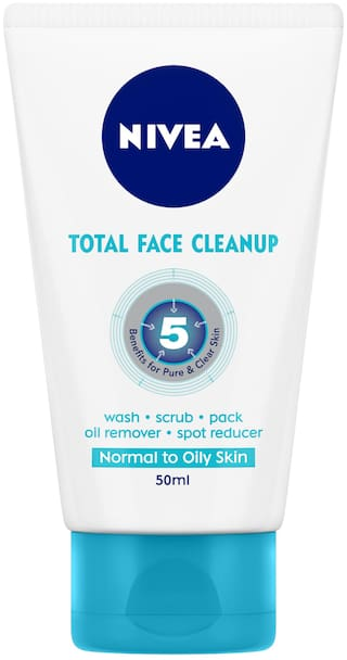 Buy Nivea Total Face Cleanup 50ml Online at Low Prices in