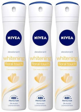 Nivea Whitening Floral Deodorant (For Women), 150ml (Pack of 3)