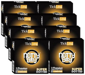 NottyBoy TickLing Super Dotted Condoms 3pcs (Pack of 8)