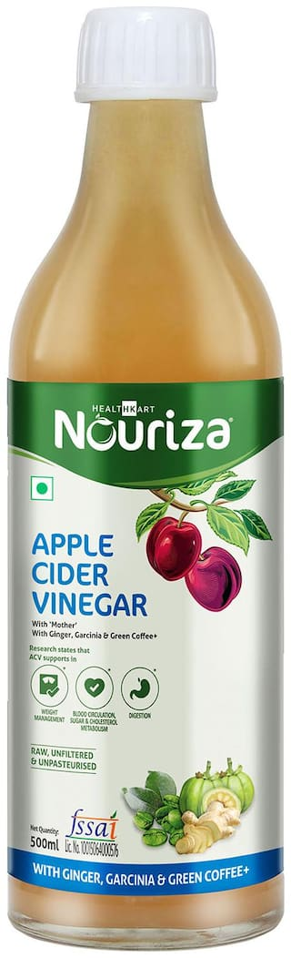 Nouriza Apple Cider Vinegar For Weight Management With Ginger Garcinia Green Coffee 500ml