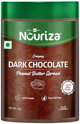 Nouriza Dark Chocolate Peanut Butter Spread (Creamy);1 kg Whey