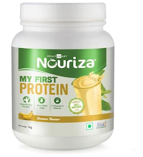 Nouriza My First Protein;Beginners Protein With Whey & Casein (Banana;1 Kg) (Pack of 1)