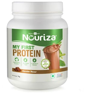 Nouriza My First Protein;Beginners Protein With Whey & Casein (Chocolate;1 Kg) (Pack of 1)