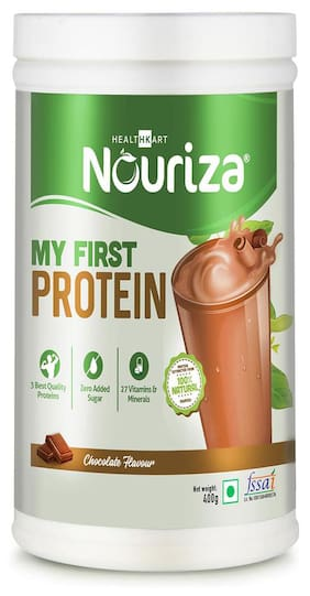 Nouriza My First Protein;Beginners Protein With Whey & Casein (Chocolate;400g) (Pack of 1)