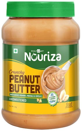 NOURIZA Peanut Butter Fortified with Vitamins & Minerals;Crunchy 1 kg (Pack of 1)