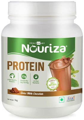 Nouriza Protein- 50% Protein with Whey & Casein (Chocolate;1 Kg) (Pack of 1)