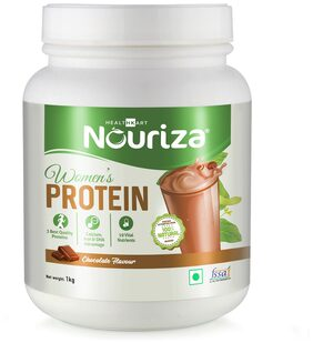 Nouriza Women's Protein with Calcium  Iron & DHA  Chocolate  1KG