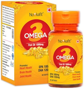 Novkafit Omega-3 Fish Oil 1000 Mg  60 Softgel Capsules