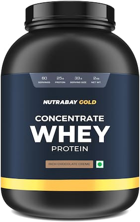 Nutrabay Gold 100% Whey Protein Concentrate - Rich Chocolate Creme, 2kg