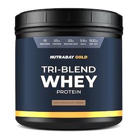 Nutrabay Gold Tri-Blend Whey Protein - 500g (Rich Chocolate Creme)