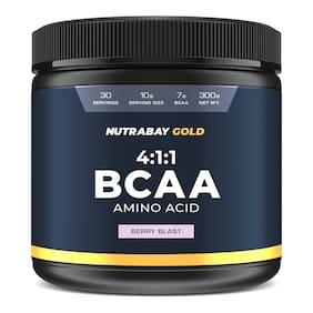 Nutrabay Gold BCAA 4:1:1-300g (Berry Blast)...