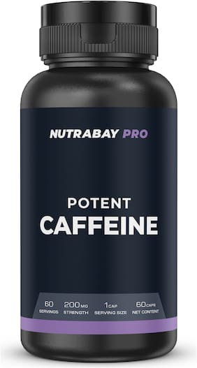 Nutrabay Pro Potent Caffeine 200mg 60 Capsules (Pack of 1)