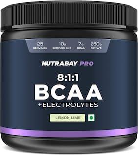 Nutrabay Pro BCAA 8:1:1 with Electrolytes - Lemon Lime