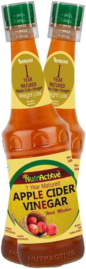 Nutractive 1 Year Matured Apple Cider Vinegar 500 ml, with mother - (Pack of 2)