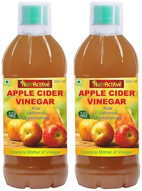 Nutractive 100% Natural Apple Cider Vinegar With Mother Of Vinegar1000 g Pack Of 2, 500ml Each