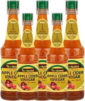 Nutractive 1 Year Matured Apple Cider Vinegar 500 ml, with mother - (Pack of 5)