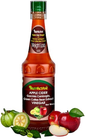 NutrActive Apple Cider with Garcinia Cambogia and Green Coffee Beans Vinegar - 500 ml - (Pack of 1)