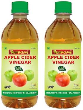 Nutractive Filtered Apple Cider Vinegar 100% Natural,Ideal For Salad Dressing1000 g Pack Of 2, 500ml Each