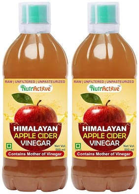 Nutractive Himalayan Apple Cider Vinegar With Mother Of Vinegar1000 g Pack Of 2, 500ml Each