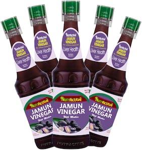 NutrActiveTM Raw & Unfiltered Jamun Cider Vinegar with Mother of Vinegar - 500ml - (Pack of 5)
