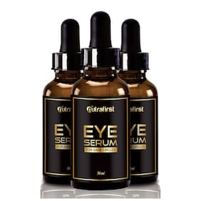 Nutrafirst Eye Serum For Dark Circles & Puffiness For Men And Women - 30ml (Pack Of 3)