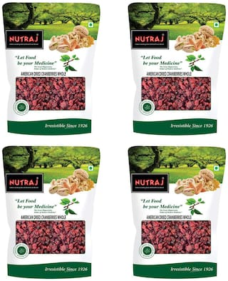 Nutraj American Dried Whole Cranberries 200gm(Pack of 4)
