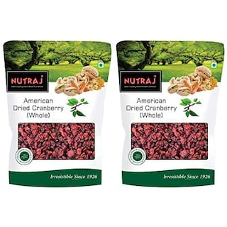 Nutraj American Dried Whole Cranberries 200g(Pack of 2)