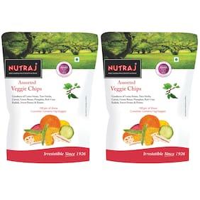 Nutraj Assorted Veggie Chips 100g (2 X 100g) Pack of 2