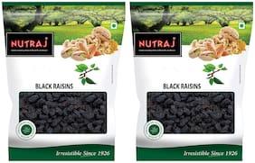 Nutraj Black Raisins ( Kali Draksh) Seedless 200gm(Pack of 2)