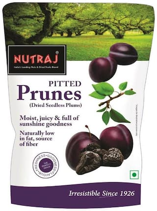Nutraj California Pitted Prunes (Dried Seedless Plums) 200g