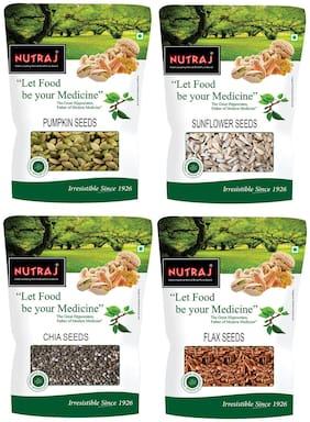 Nutraj Combo Pack of 4 (Pumpkin, Chia, Flax, Sunflower) Seeds ( 200 g Each)