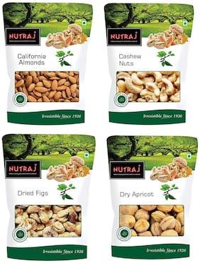 Nutraj Dry Fruit Combo (Almond 100g Cashews 100g Figs 100g Apricot 100g) (Pack of 4)
