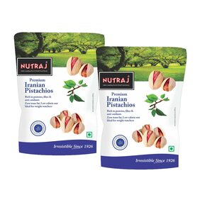 Nutraj Iranian Roasted & Salted Pistachios 250 G (Pack Of 2)