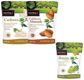 Nutraj Mixed Dry Fruits Pack 750G (Almonds Cashews & Raisins 250G Each)