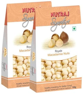 Nutraj Signature - Macadamia Nuts 100G (Pack Of 2) - Vacuum Pack