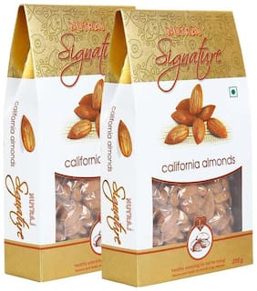 Nutraj Signature California Almonds Plain 200 G (Pack Of 2)