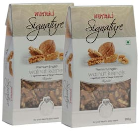 Nutraj Signature Regular English Walnut Kernels 200 G (Pack Of 2)