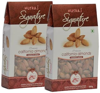 Nutraj Signature Roasted And Salted California Almonds 200 G (Pack Of 2)