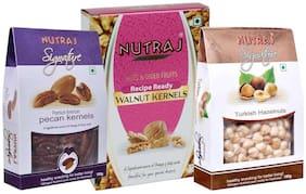 Nutraj Super Saver Nuts Pack 450G (Walnuts 250G  Pecans 100G & Hazlenuts 100G)