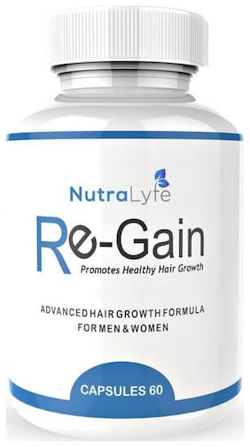 Nutralyfe 100% Natural & Herbal Re-Gain Supplement For Hair Loss - 60 Capsules