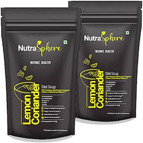 NutraSphere Lemon Coriander Instant Healthy Mix Powder- Healthy, Low Fat (Pack of 2)
